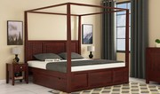 Purchase four poster beds upto 55% off - WoodenStreet