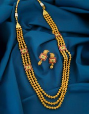 Explore Collection of Rani Haar Gold Design at Best Price
