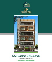 2 BHK flats for sale in near big bazaar  badrappa layout hebbal