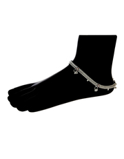 Exclusive Collection of Silver Anklets for Bride at Best Price.