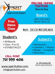 Online Classes for math & Science