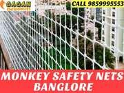 Monkey safety nets free installation in bangalore