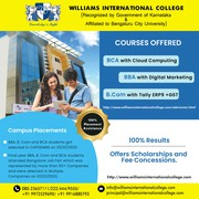 Best Bca College in Rt Nagar Bangalore | Williams International Colleg